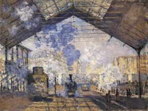 The Gare St by Claude Monet