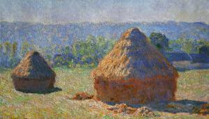 The Haystacks, End of Summer, Giverny, 1891 by Claude Monet