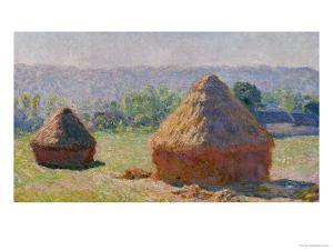 The Haystacks, or the End of the Summer, at Giverny, 1891 by Claude Monet