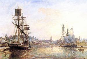 Claude Monet The Honfleur Port 2 Art Print Poster