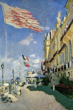 The Hotel des Roches Noires at Trouville, 1870 by Claude Monet