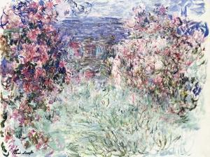 The House Among the Roses, 1925 by Claude Monet
