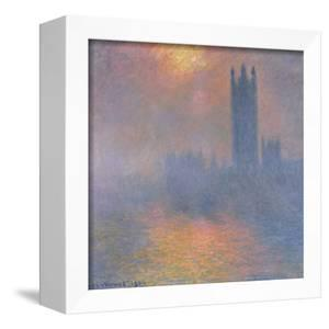 The Houses of Parliament, London, with the Sun Breaking Through the Fog, 1904 by Claude Monet