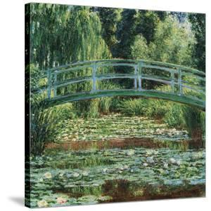 The Japanese Footbridge and the Water Lily Pool, Giverny, 1899 by Claude Monet