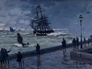 The Jetty at Le Havre, Bad Weather, 1870 by Claude Monet