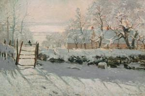 The Magpie, Etretat, Winter 1868-69 by Claude Monet