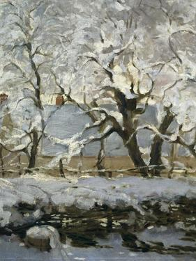The Magpie by Claude Monet