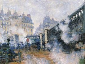 The Pont De L'Europe, Gare Saint-Lazare, 1877 by Claude Monet