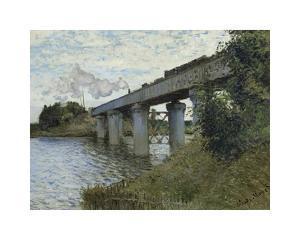 The Railway Bridge at Argenteuil, c.1873-1874 by Claude Monet
