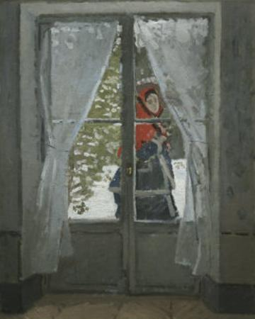 The Red Kerchief: Portrait of Mrs. Monet, c.1868-1878 by Claude Monet