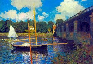 Claude Monet The Road Bridge Argenteuil Art Print Poster