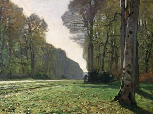 The Road to Bas-Breau, Fontainebleau, circa 1865 by Claude Monet