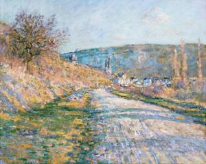 The Road to Vetheuil, 1879 by Claude Monet