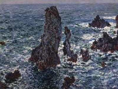 The Rocks in Belle-Ile (Pyramides De Port-Coton, Mer Sauvag), 1886 by Claude Monet