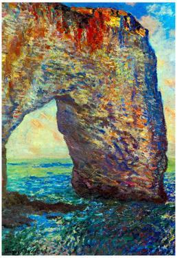 Claude Monet The Rocky Cliffs of Etretat La Porte Man 2 Art Print Poster