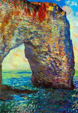 Claude Monet The Rocky Cliffs of Etretat La Porte Man 2 Art Print Poster
