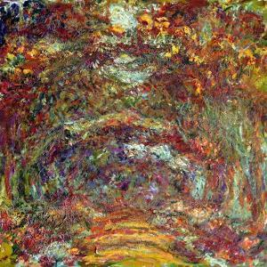 The Rose Path, Giverny, 1920-22 by Claude Monet