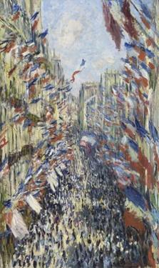 The Rue Montorgueil in Paris, Celebration of June 30, 1878 by Claude Monet
