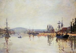 The Seine Below Rouen by Claude Monet