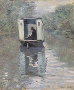 The Studio Boat (Le Bateau-atelier), 1876 by Claude Monet