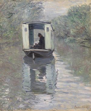 The Studio Boat (Le Bateau-atelier), 1876 by Claude Monet