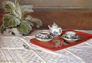 Claude Monet The Tea Set Art Print Poster