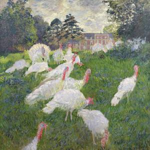 The Turkeys at the Chateau De Rottembourg, Montgeron, 1877 by Claude Monet
