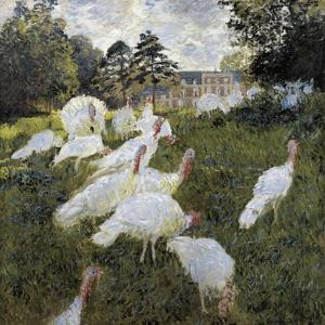 The Turkeys at the Chateau De Rottembourg, Montgeron by Claude Monet