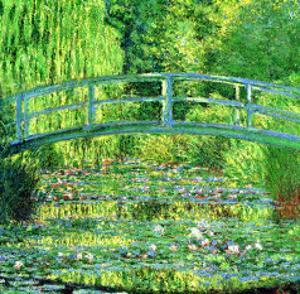 The Water Lilly Pond, Green Harmony by Claude Monet