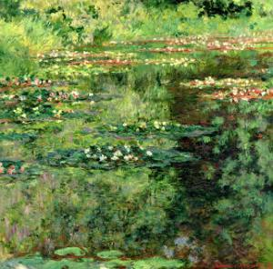 The Waterlily Pond, 1904 by Claude Monet