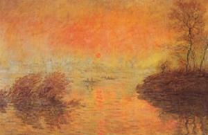 Tramonto Sulla Senna by Claude Monet