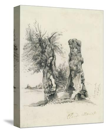 Tree Trunks at La Mare au Clerc by Claude Monet
