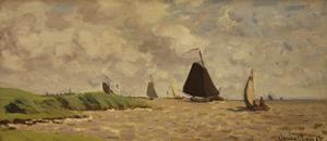 View from Voorzan, C.1871 by Claude Monet