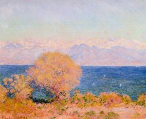 View of Bay at Antibes and the Marit by Claude Monet