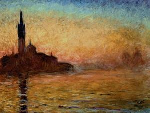View of San Giorgio Maggiore, Venice by Twilight, 1908 by Claude Monet