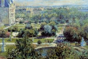 View of Tuileries Gardens by Claude Monet