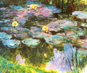 Violet Water Lilies by Claude Monet