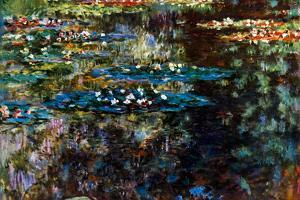 Claude Monet Water Garden at Giverny Plastic Sign