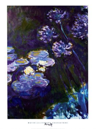 Water Lilies and Agapanthus, 1914-1917 by Claude Monet