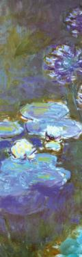 Water Lilies and Agapanthus (detail) by Claude Monet