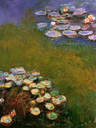 Water Lilies, Harmony in Blue by Claude Monet