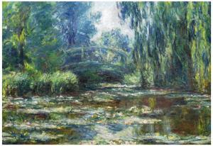 Claude Monet Water-Lilies in Monet's Garden Art Print Poster