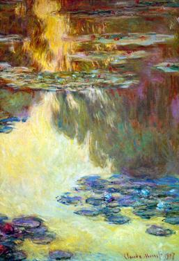 Claude Monet Water Lilies Water Landscape #6 Art Print Poster