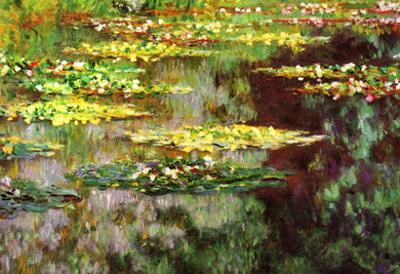 Claude Monet Water-Lily Pond Art Print Poster