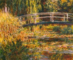 Water Lily Pond-Pink Harmony by Claude Monet