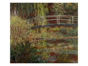 Water-Lily Pool, Harmony in Pink by Claude Monet