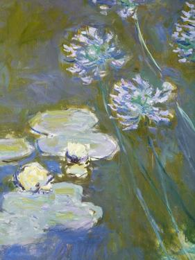 Waterlilies and Agapanthus, 1914-17 (Detail) by Claude Monet