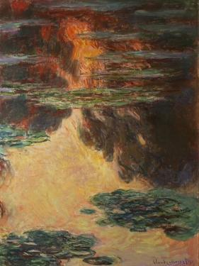 Waterlilies, Detail, 1907 by Claude Monet