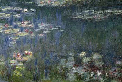 Waterlilies: Green Reflections, 1914-18 (Left Section) by Claude Monet