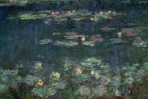Waterlilies: Green Reflections, 1914-18 (Right Section) by Claude Monet